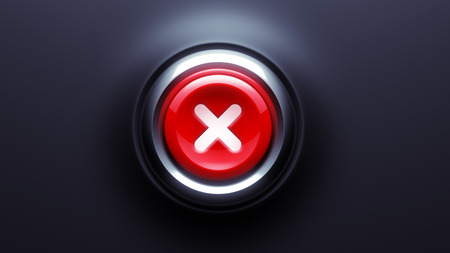 Wrong Stop Button isolated on dark background photo