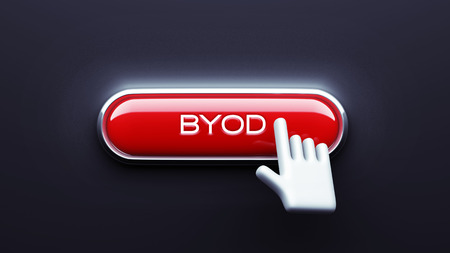 BYOD Button isolated on dark background photo
