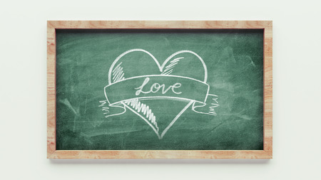 Chalkboard Drawing isolated on white background photo
