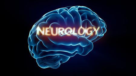 Xray Brain isolated on black background photo