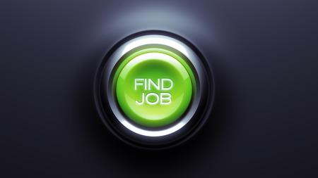 Find Job Button isolated on dark background photo