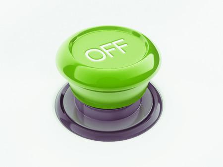 boton on off: Off bot�n aislado en fondo blanco