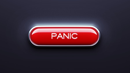 panic button: Panic Button isolated on dark background