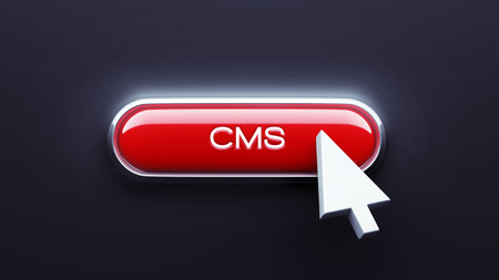 cms: Cms Button isolated on dark background