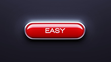 Easy Button isolated on dark background photo