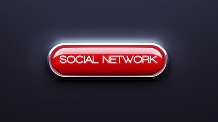 Social Network Button isolated on dark background photo