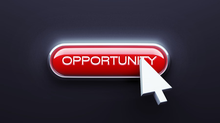 Opportunity Button isolated on dark background photo