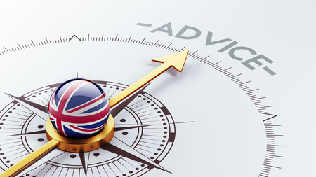 adviser: United Kingdom High Resolution Advice Concept Stock Photo