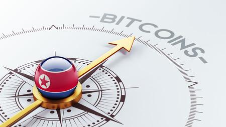 electronic guide: North Korea High Resolution Bitcoin Concept Stock Photo
