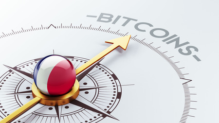 electronic guide: France High Resolution Bitcoin Concept