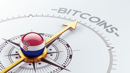 electronic guide: Croatia  High Resolution Bitcoin Concept Stock Photo