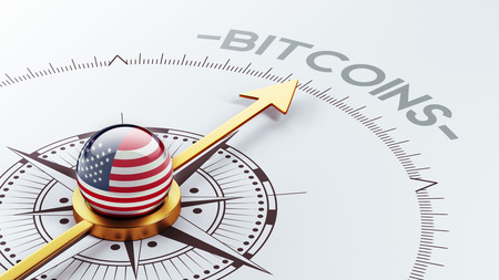 electronic guide: United States High Resolution Bitcoin Concept Stock Photo