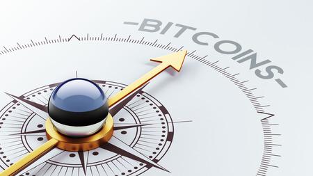 estonian: Estonia High Resolution Bitcoin Concept Stock Photo
