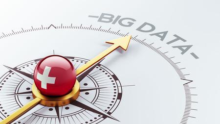 Switzerland High Resolution Big Data Concept