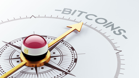 Egypt High Resolution Bitcoin Concept photo