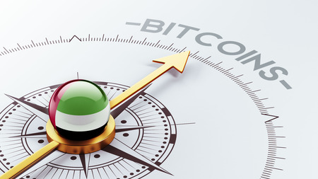 electronic guide: United Arab Emirates  High Resolution Bitcoin Concept