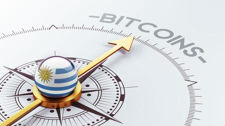 electronic guide: Uruguay High Resolution Bitcoin Concept