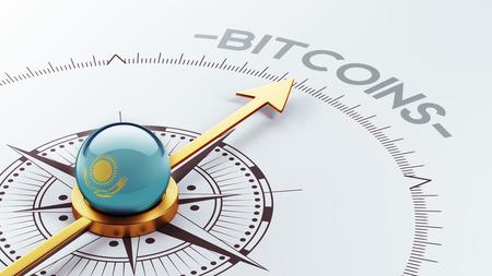 electronic guide: Kazakhstan High Resolution Bitcoin Concept Stock Photo