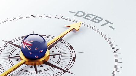 new zealand word: New Zealand High Resolution Debt Concept Stock Photo