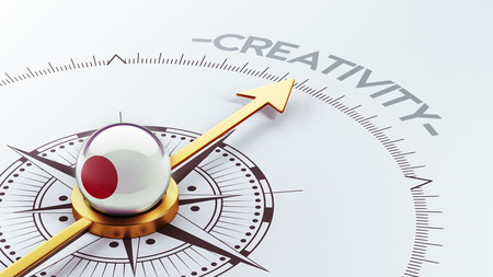 Japan High Resolution Creativity Concept