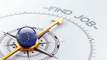 Union européenne haute résolution Trouver un concept de travail Banque d'images - 28451843