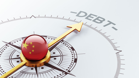 monetary devaluation: China High Resolution Debt Concept Stock Photo
