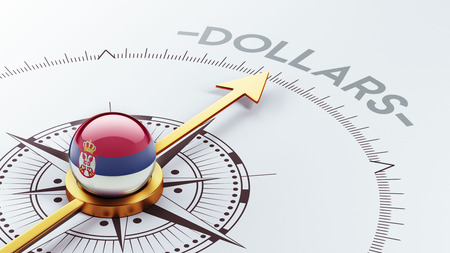 Serbia High Resolution Dollars Concept photo