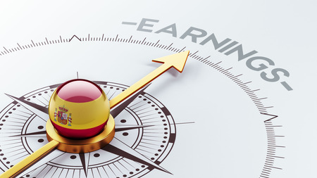 earnings: Spain High Resolution Earnings Concept