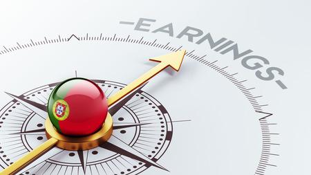 earnings: Portugal High Resolution Earnings Concept