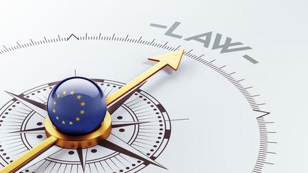 Europese Unie met hoge resolutie Law Concept