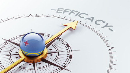 efficacy: Aruba High Resolution Efficacy Concept Stock Photo