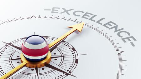 costa rican flag: Costa Rica  High Resolution Excellence Concept Stock Photo