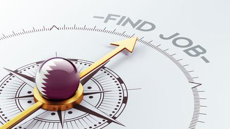 Qatar High Resolution Find Job Concept photo