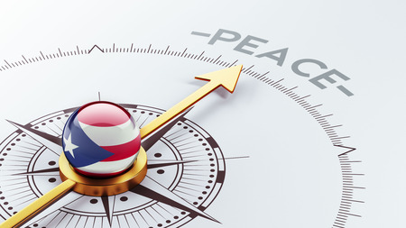 pacifist: Puerto Rico High Resolution Peace Concept Stock Photo