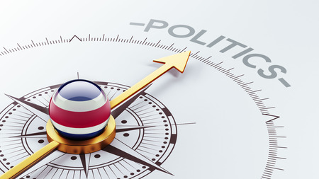 costa rican flag: Costa Rica  High Resolution Politics Concept