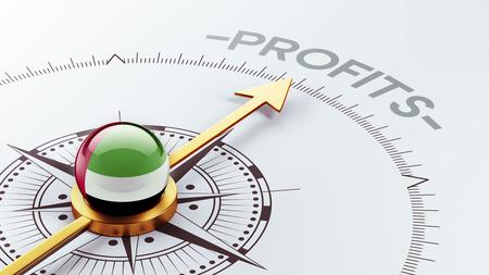 profitable: United Arab Emirates  High Resolution Profit Concept