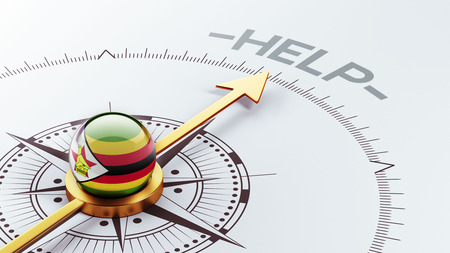 zimbabwe: Zimbabwe High Resolution Help Concept Stock Photo