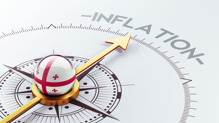 inflation: Georgia High Resolution Inflation Concept Stock Photo