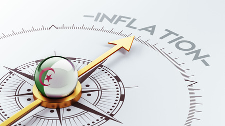 inflation: Algeria High Resolution Inflation Concept Stock Photo
