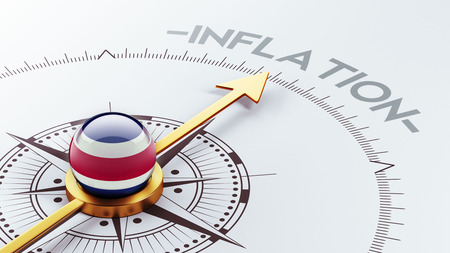 costa rican flag: Costa Rica  High Resolution Inflation Concept