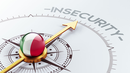 insecurity: Italy High Resolution Insecurity Concept