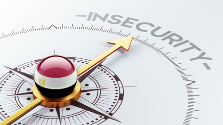 insecurity: Egypt High Resolution Insecurity Concept