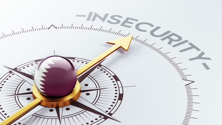 insecurity: Qatar High Resolution Insecurity Concept Stock Photo