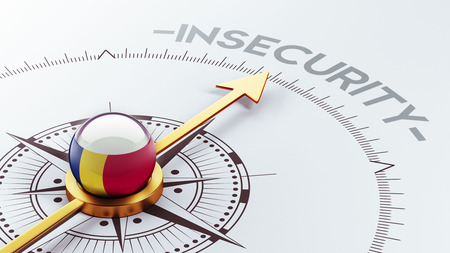 insecurity: Romania High Resolution Insecurity Concept Stock Photo