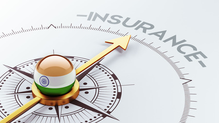 India High Resolution Insurance Concept Stok Fotoğraf