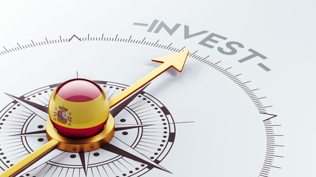 financial advisors: Spain High Resolution Invest Concept Stock Photo