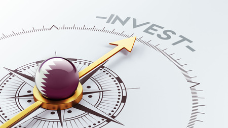 advisory: Qatar High Resolution Invest Concept Stock Photo