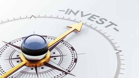 invest: Estonia High Resolution Invest Concept Stock Photo