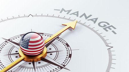 United States High Resolution Manage Concept Stock Photo