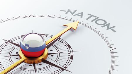 nation: Slovenia High Resolution Nation Concept Stock Photo